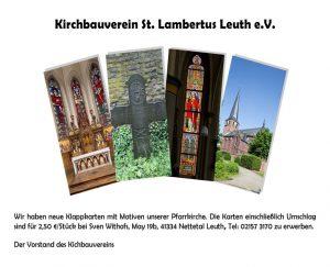 Klappkarten Kirchbauverein 2017