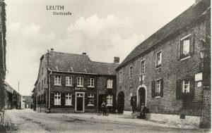 Das alte Rathaus und der Muitenhof um 1920